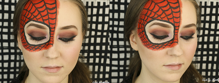 6 spiderman mask makeup spiderman naamio meikki