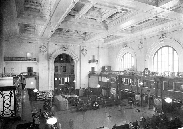 union station railroad station interior 1930 39 s albany n flickr photo sharing. Black Bedroom Furniture Sets. Home Design Ideas