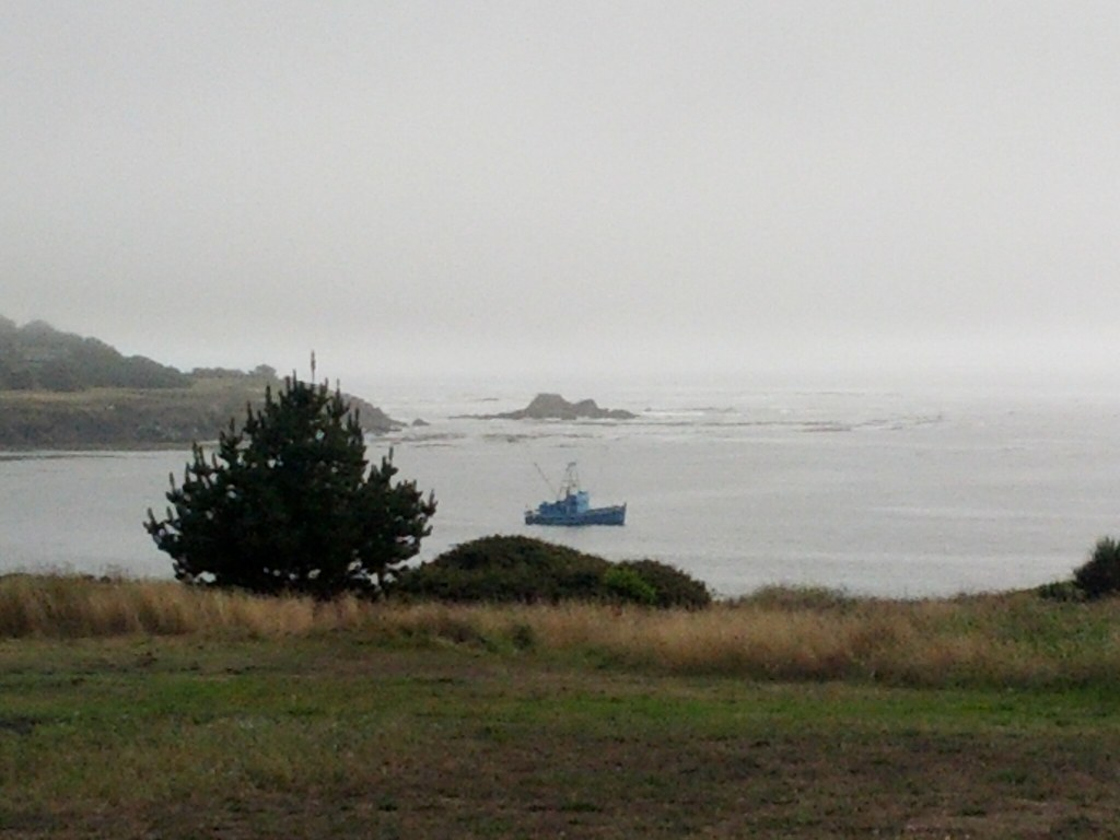 Fishing boat in Mendocino (looks like coast of Maine to me ...