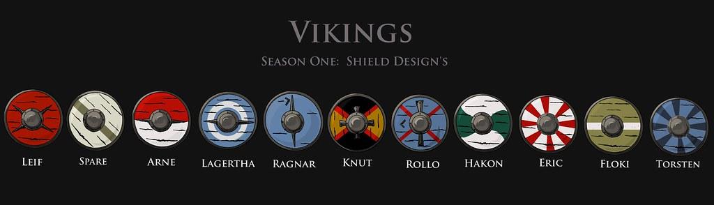 Vikings S1 Shield design : Jil Turners Set decoration on ...