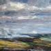 PA717 Burning landscape, Masham moor. Oil on board 38 x 46 cm Neil Bolton Fine Art Painter