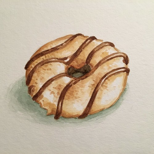 Donut 7, watercolor