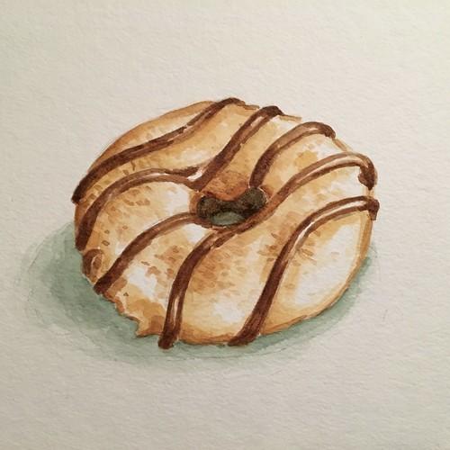 Donut 7, watercolor