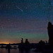 Meteors over Mono Lake
