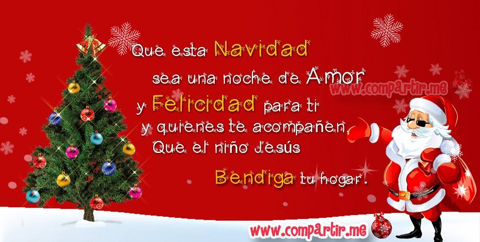Tarjeta navide a con imagen de santa claus y frase de feli - Dibujos para una postal de navidad ...