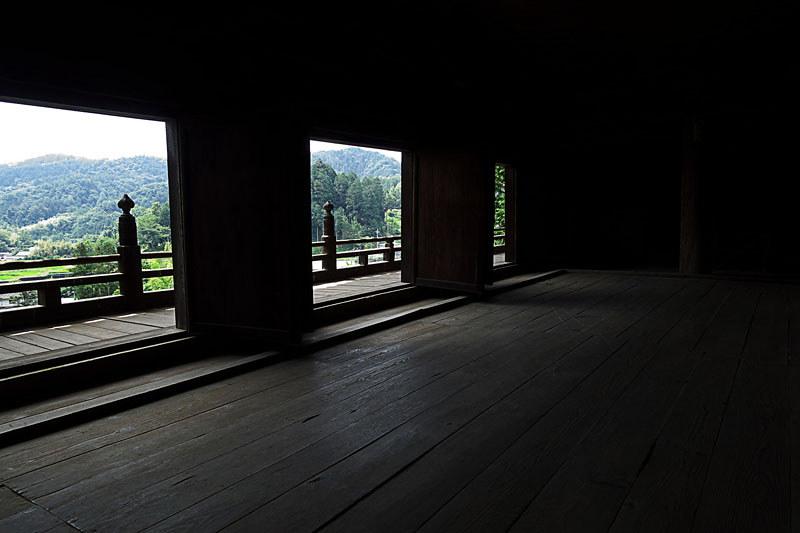 富士川町 あじさい寺、妙法寺 山門