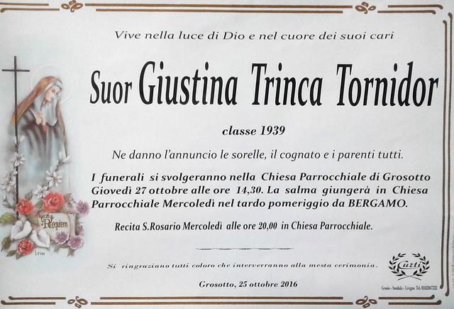 Suor Giustina Trinca Tornidor