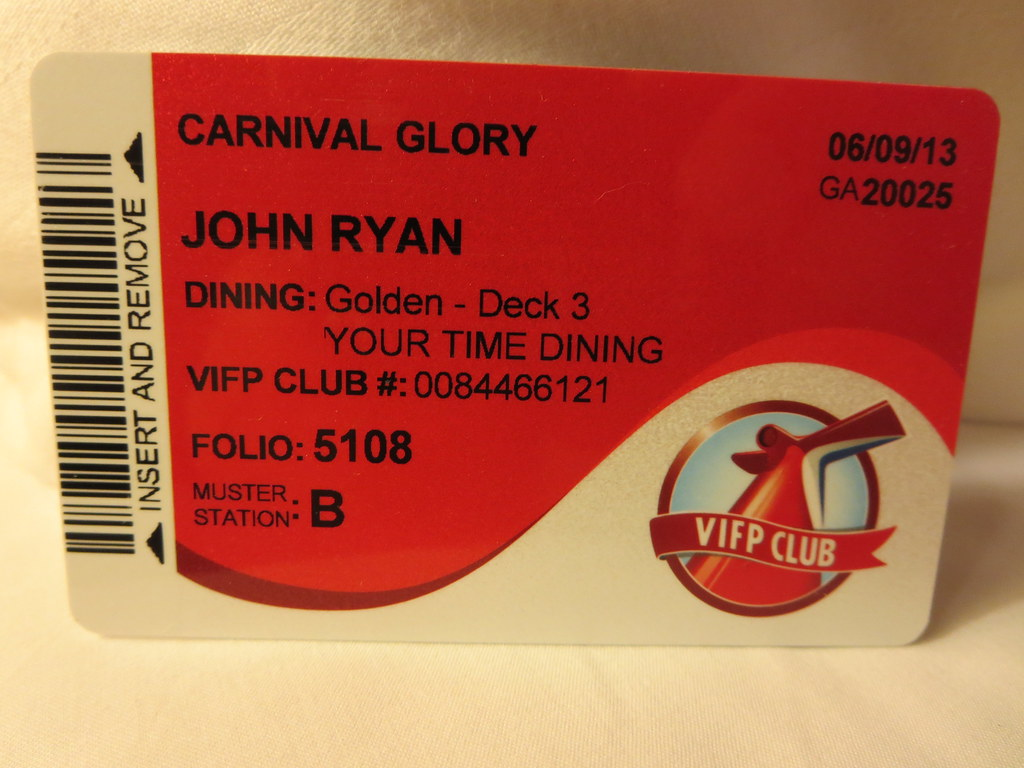 Carnival Sail And Sign Card Carnival Glory Is A Conquest