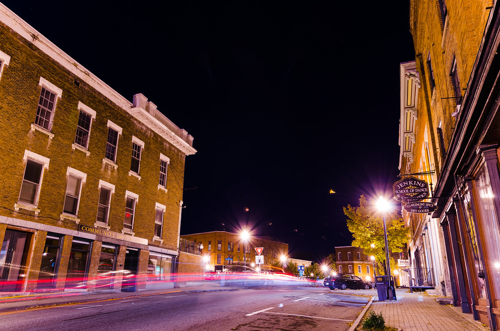 Downtown Claremont, NH | I tried to get some light trails do… | Flickr