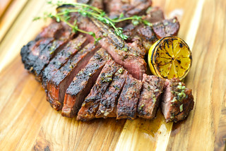 Mojo Marinated Flank Steak with Grilled Onions The Best Way to Grill a ...
