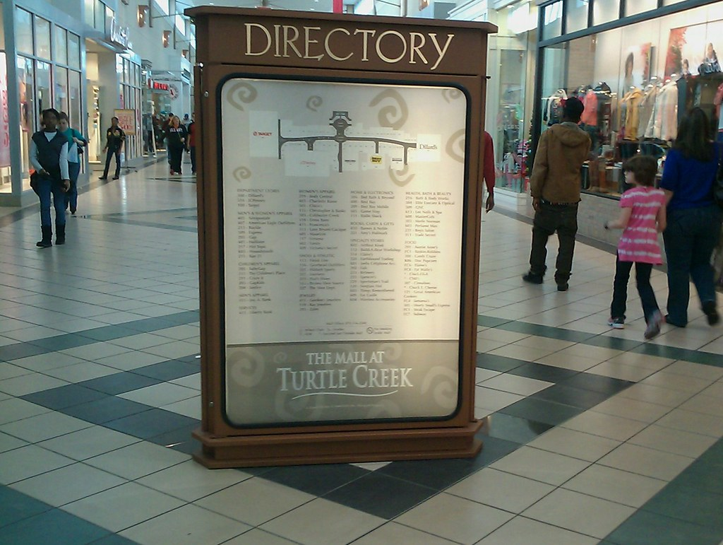 back inside turtle creek mall looking at the directory 86544