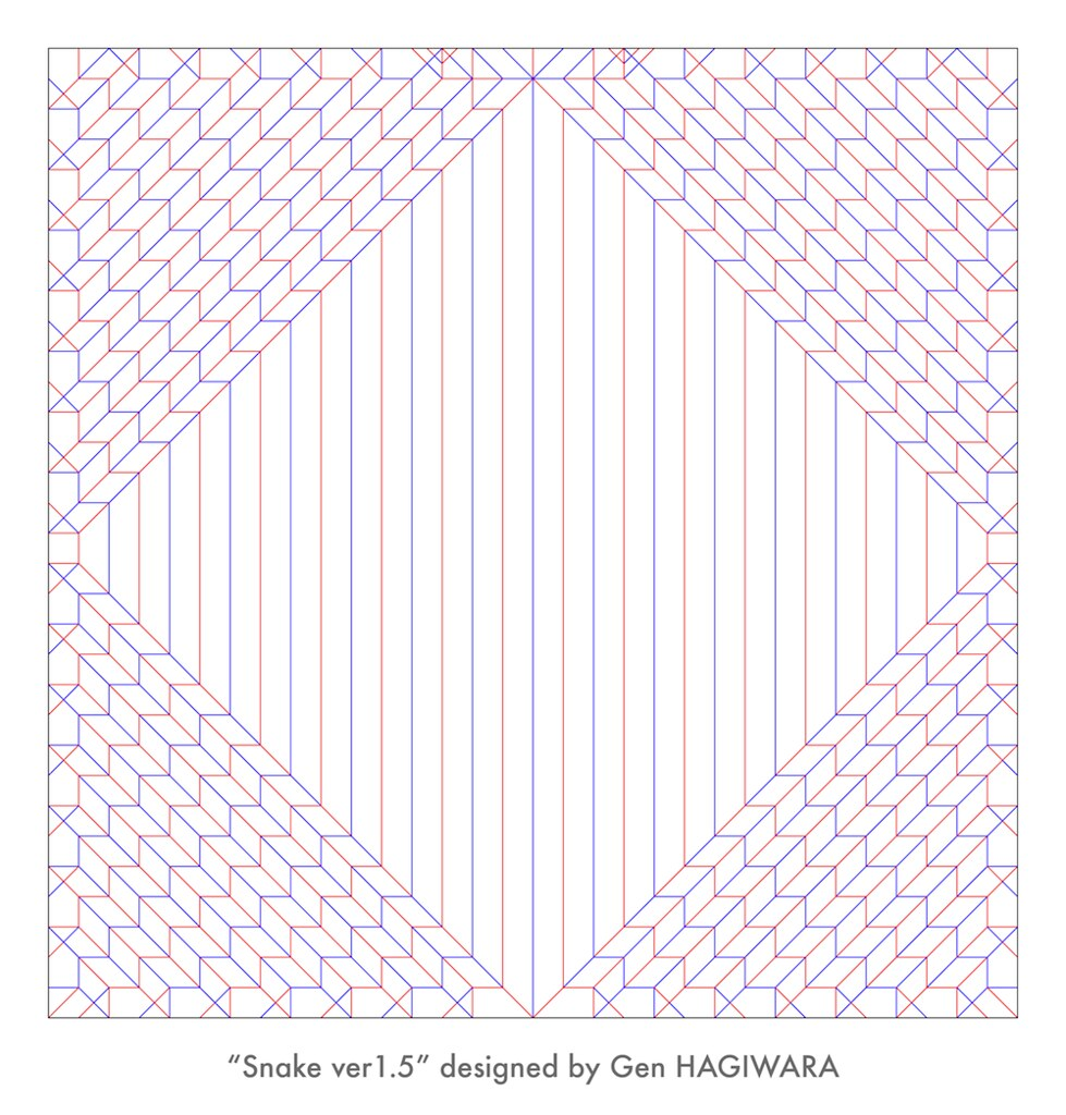 ヘビ1.5 展開図 / Snake1.5 crease pattern | Crease pattern of my s ... Light