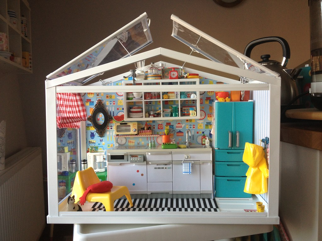 Glass house with blue fridge anka anka flickr - Ikea puppenhaus mobel ...