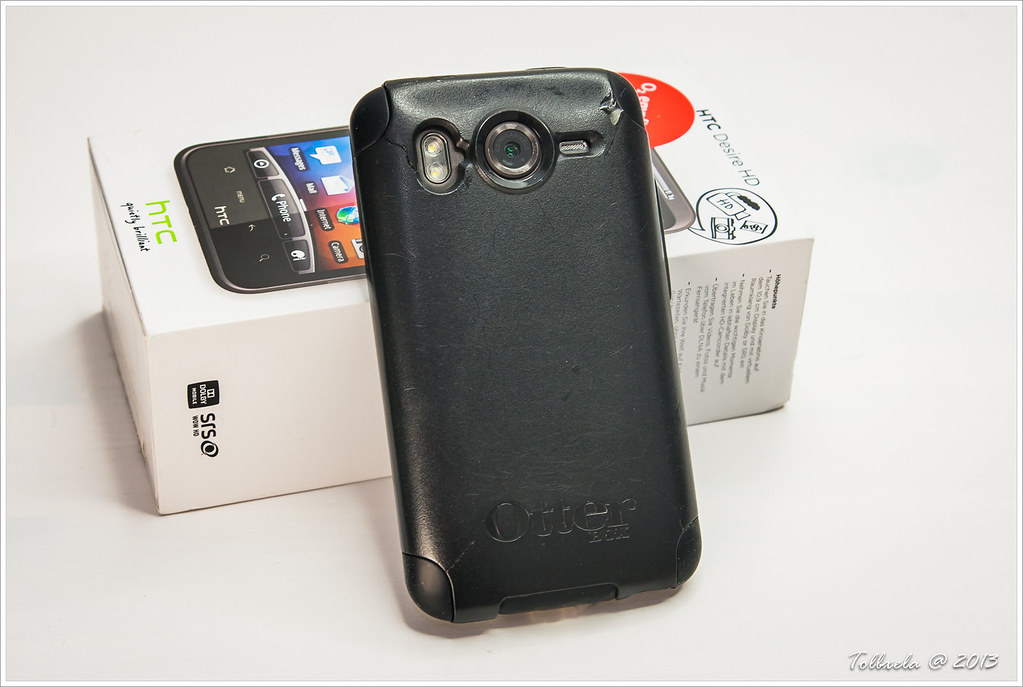 Htc desire hd with otterbox commuter case back side flickr - Htc desire hd fundas ...
