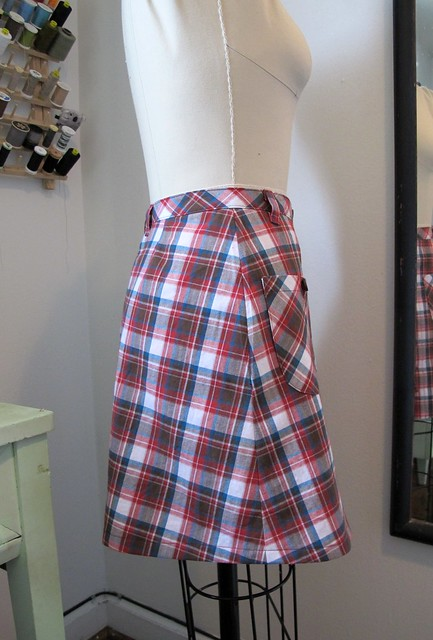 Plaid Rosari Skirt - on dressform