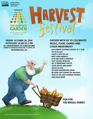 2016 Peoples Garden Harvest Festival flyer