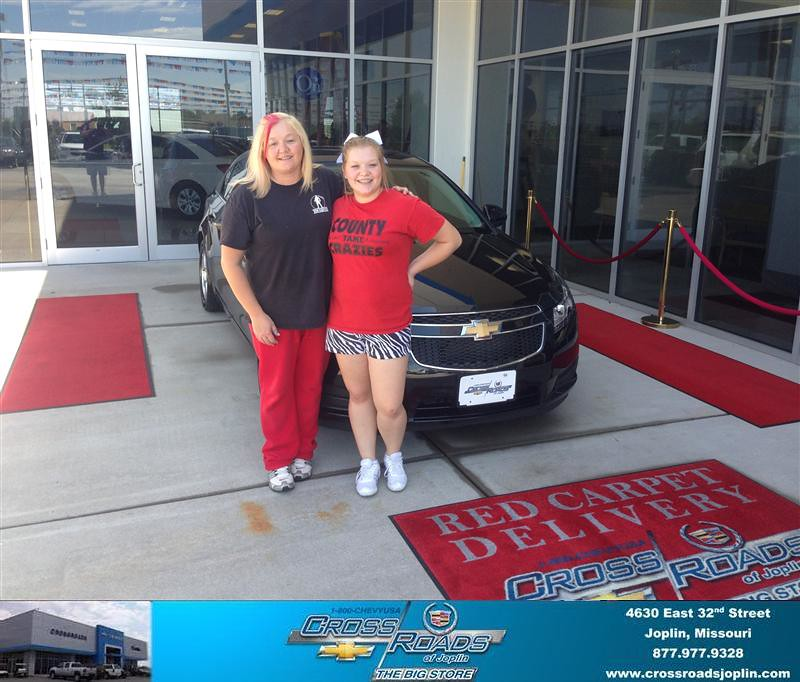 Jones Cadillac: Thank You To Tiffany Jones On The 2013 Chevrolet Cruze Fro…