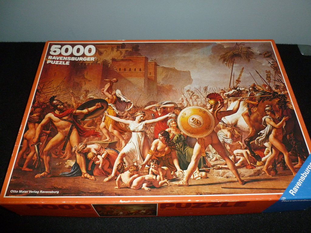 5000 piece puzzle the intervention of the sabine women. Black Bedroom Furniture Sets. Home Design Ideas