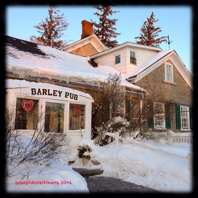 2/11/2014 - the pub {the Barley Pub & the Waring House} #photoaday #pub #waringhouse #barleypub #barleyroompub #princeedwardcounty #winter #thecounty