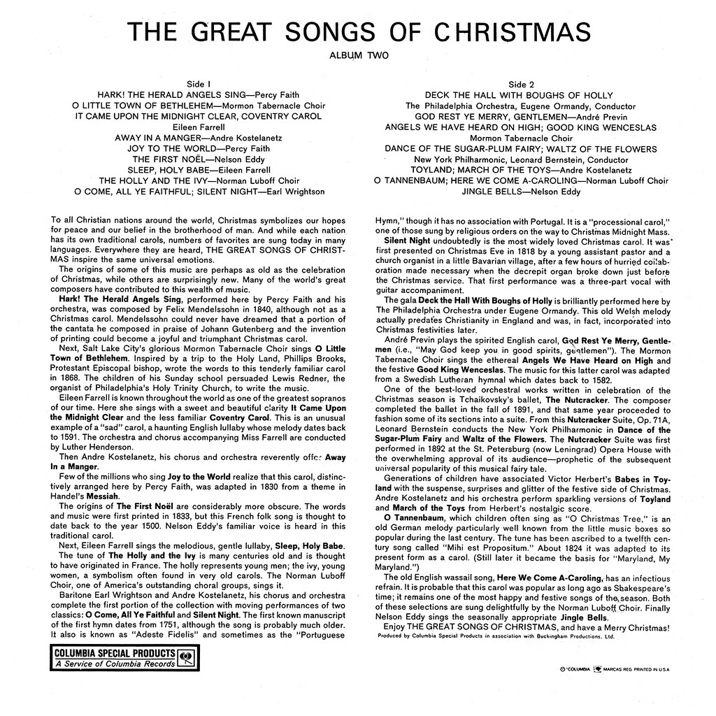Various Artists - The Great Songs of Christmas n