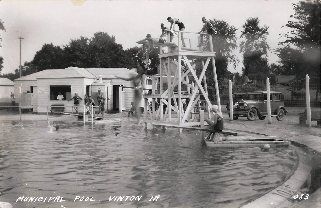 Vinton Iowa Swimming Pool Postmarked April 14