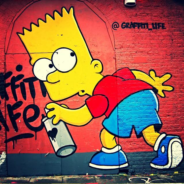 bart simpson by graffiti life explore gingernutdesigns