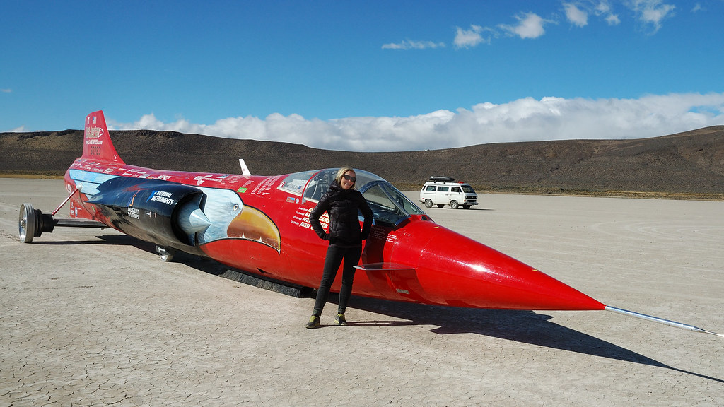 Land Speed Record >> Jessi Combs With the North American Eagle | While on a drive… | Flickr