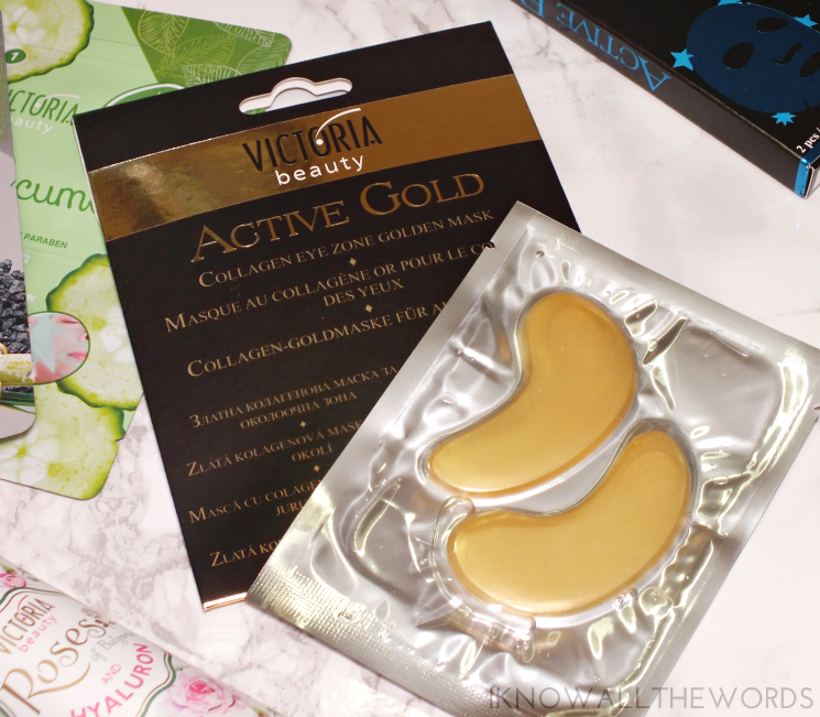 victoria beauty gold collagen eye masks