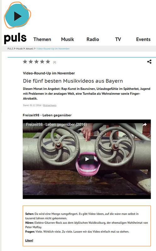 Die fünf besten Musikvideos aus Bayern im November (pour blog)