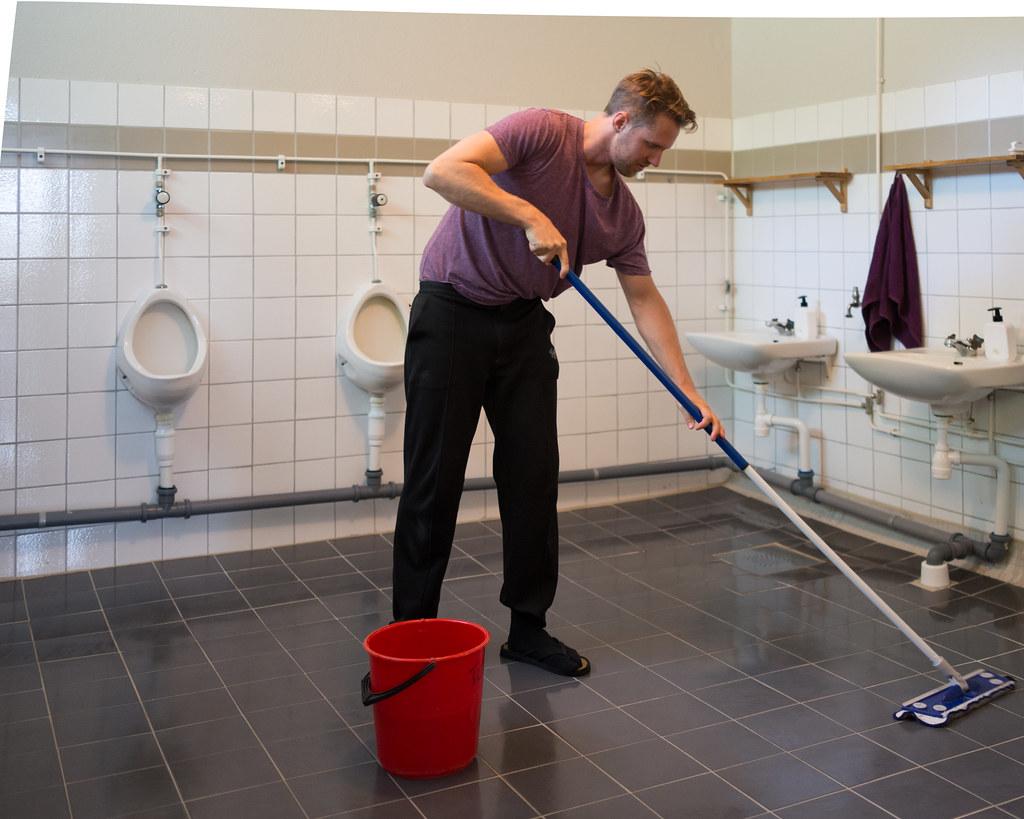 Swinton Office Cleaning in restroom
