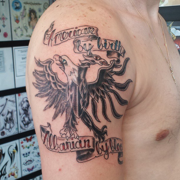 American by birth albanian by blood heritage albanian for White heritage tattoos