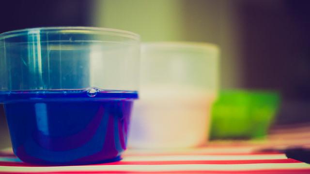 color analysis of liquid detergents blue