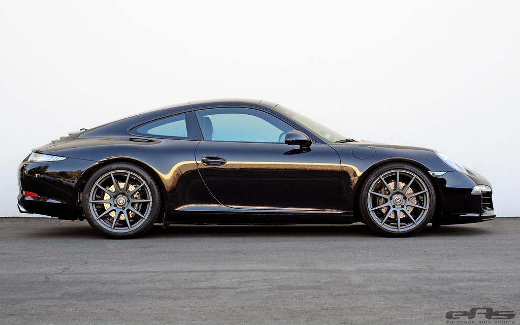 black porsche 991 911 forgestar cf10 wheels 01 european