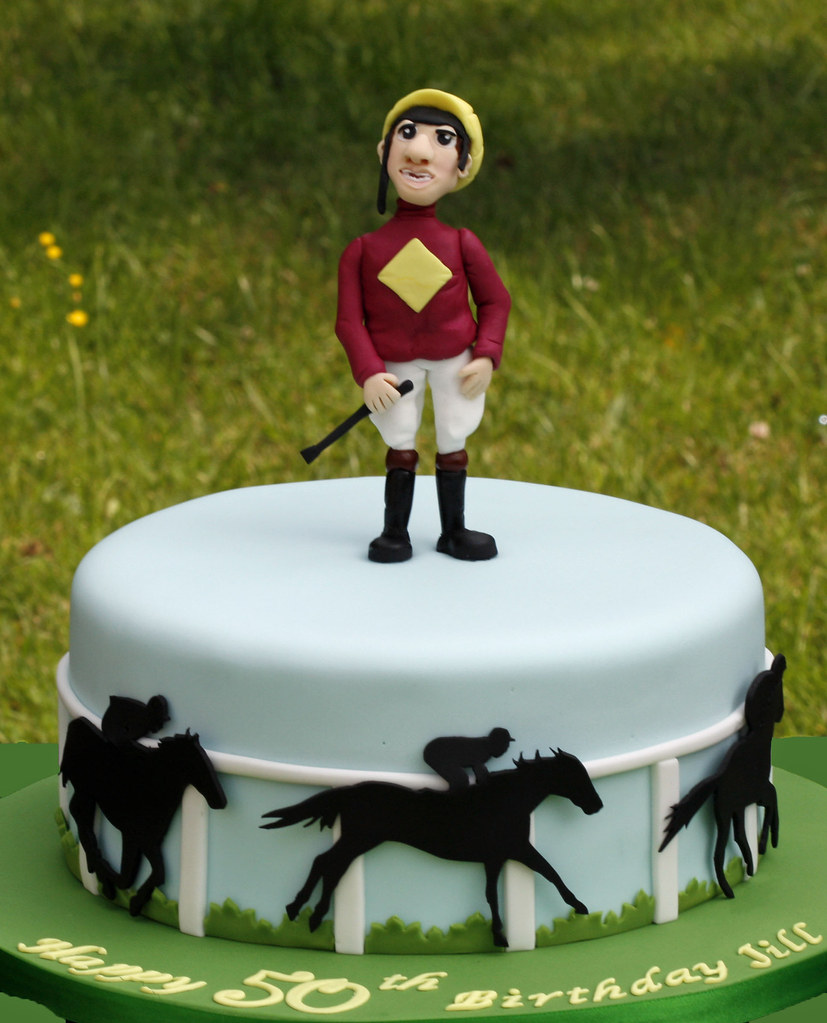 Cake Decorations Horse Racing : Horse Racing Cake For Jill who loves watching horse ...