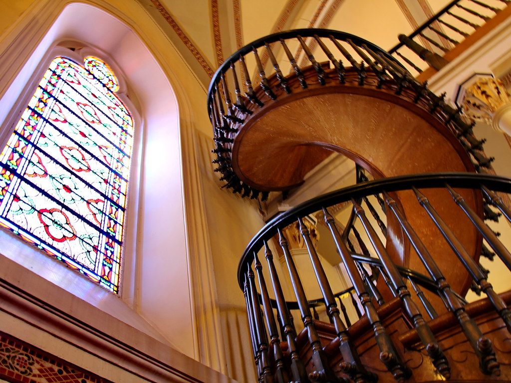 Wood Interior Homes Miraculous Staircase Loretto Chapel Santa Fe Nm Flickr