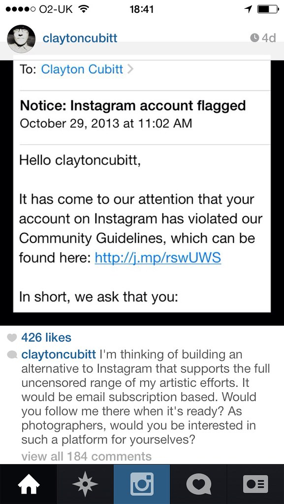 All sizes clayton cubitts instagram account got flagged again photo all sizes thecheapjerseys Images