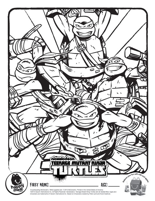 tmnt coloring pages ralph 2012 - photo#30