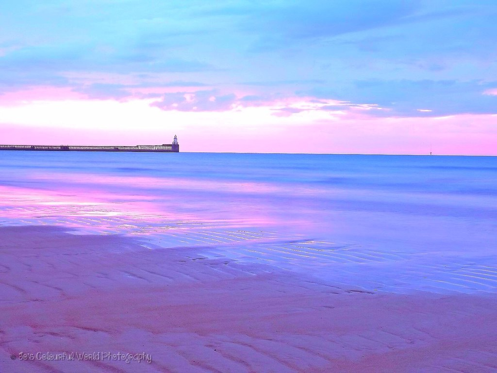 purple sunrise blyth beach northumberland jo parnell