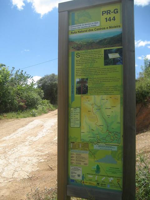 Panel Informativo PR-G 144 Ruta Natural dos Castros e Nivieira