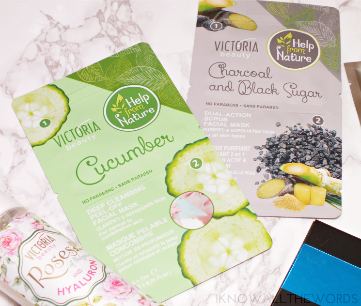 victoria beauty cucumber and black sugar charcoal masks