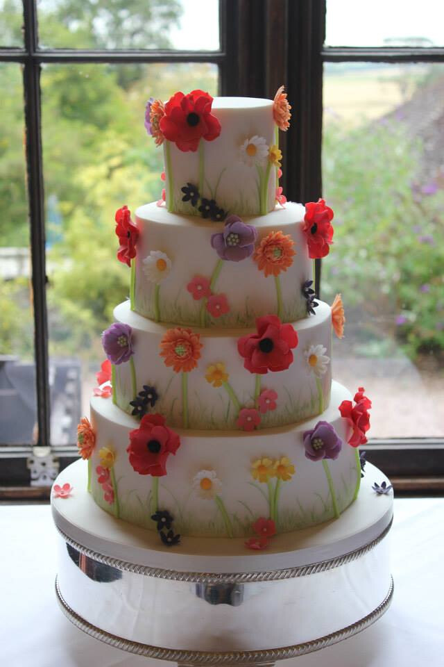 wild wedding cakes summertime flowers wedding cake for deborah amp keith 27481
