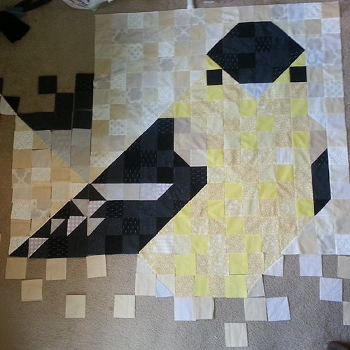 Some counting issues. ..thought I had cut enough! #charleyharper #mosaic #pixelquilt