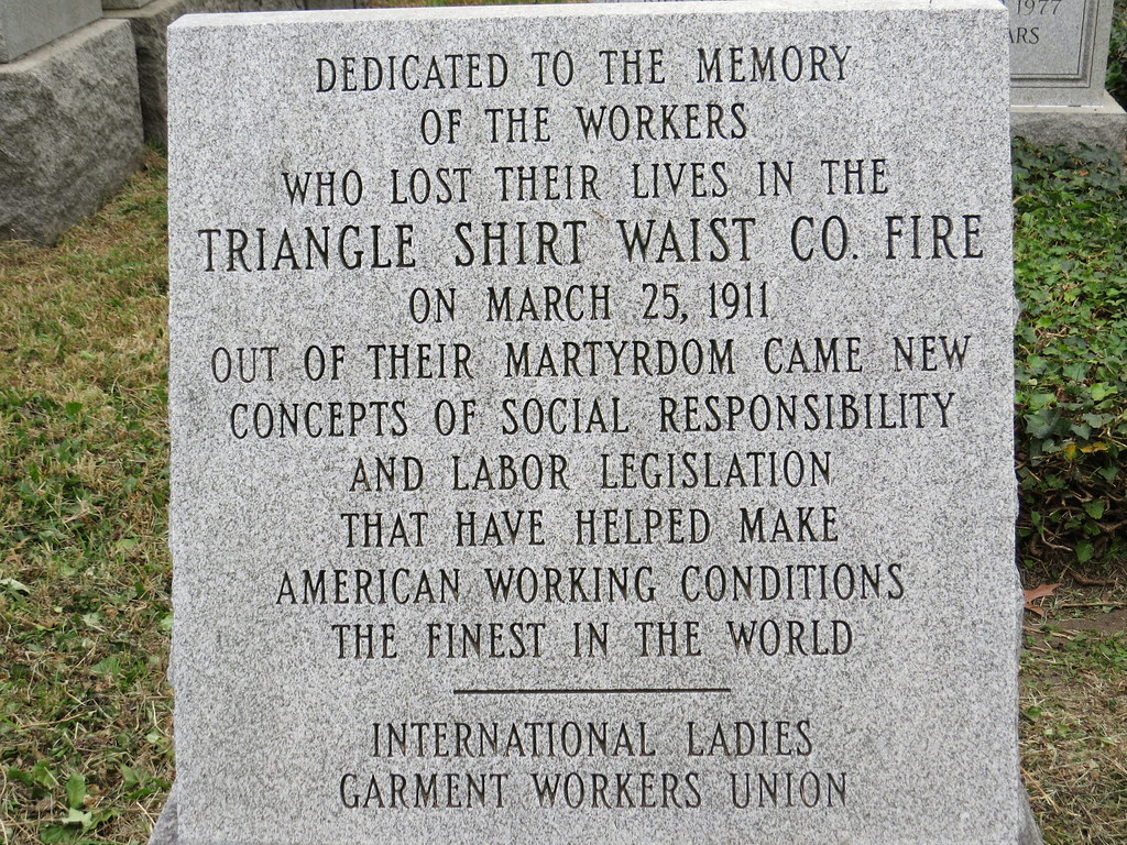 Triangle Shirtwaist Factory Fire Memorial, Mt. Zion Cemete ... Triangle Shirtwaist Fire Map