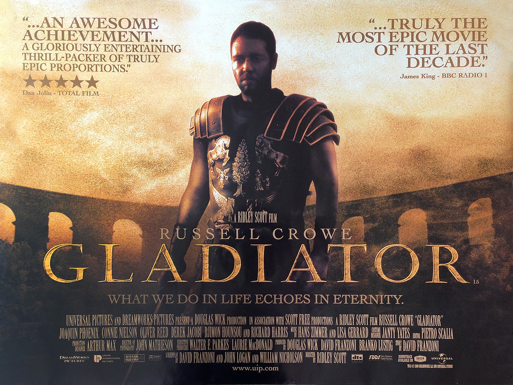 gladiator-quad-poster : Original British cinema DS quad ...