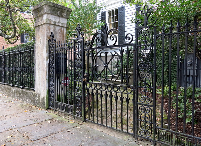 Wrought Iron Fence And Gate Henry Laurens House 7 Legare