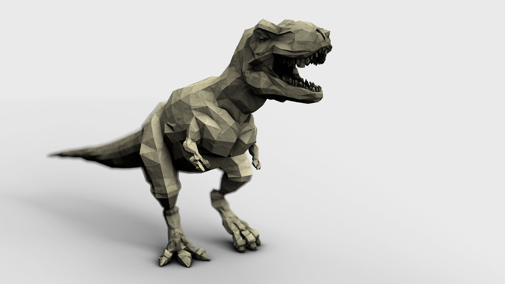 Easy t Rex Origami Origami T-rex | by