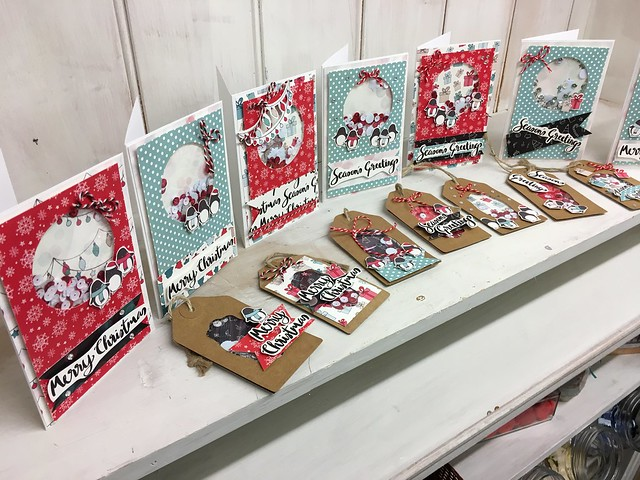 StickerKitten shaker card craft workshop at The Mulberry Bush