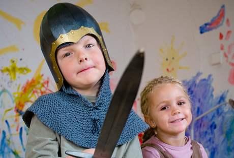 malý rytíř a princezna