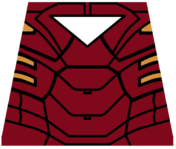 LEGO iron man mark 6 decal