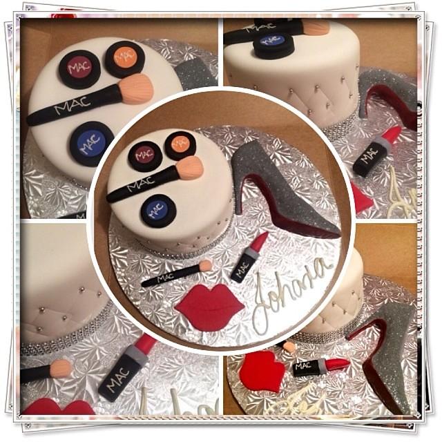 Red Bottom Shoe \u0026amp; Mac Makeup Cake #redbottom #shoe #mac #makeup ...
